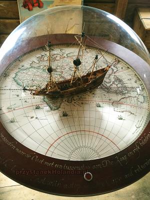 makieta przedstawiająca trasę okrętów